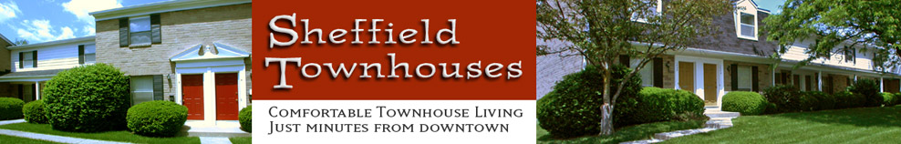 Sheffield Townhouses, lease, rent in Columbus Ohio, near OSU, Dublin, and Muirfield.