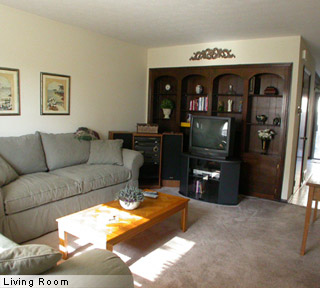 Living room of apartments for lease, rent in Columbus, Ohio